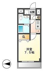 現代ハウス金山[7階]の間取り