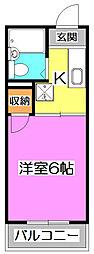 第六みずほ館[1階]の間取り