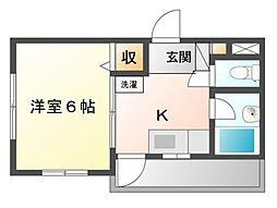 八千代台パーソナルハウスパート6[4階]の間取り