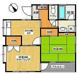 松本邸[201号室]の間取り