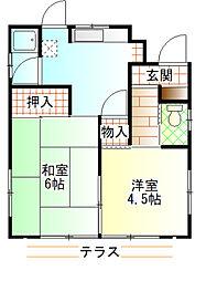 [一戸建] 神奈川県小田原市延清 の賃貸【/】の間取り