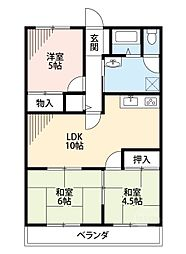 コーポラス熊本[1階]の間取り