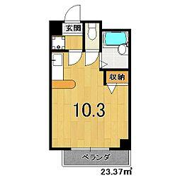 エストメゾン京都[401号室]の間取り