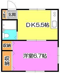 OKハイムI[2階]の間取り