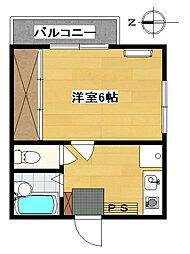 エステート大栄[3階]の間取り