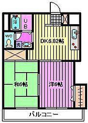 インフォートマンション[2階]の間取り