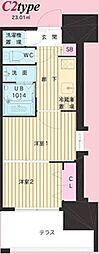 No.111 CLUB ORIENT BLD(クラブオリエントビル) 20階2Kの間取り