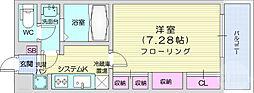 リブリ・エスポワール表柴田 2階1Kの間取り
