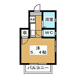 京都府京都市左京区一乗寺東水干町の賃貸アパートの間取り