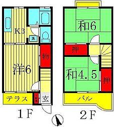 [テラスハウス] 千葉県柏市逆井4丁目 の賃貸【/】の間取り