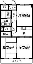 ト—エイマンション[3-B号室]の間取り