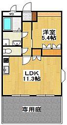 レイクレアII[1階]の間取り