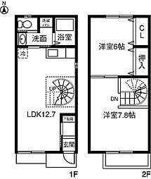 [テラスハウス] 愛知県春日井市不二ガ丘二丁目 の賃貸【/】の間取り