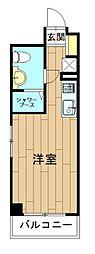 神奈川県川崎市中原区新丸子東1丁目の賃貸マンションの間取り