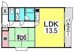 井口台FLATS[2階]の間取り