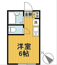 神奈川県横浜市南区唐沢の賃貸アパートの間取り
