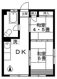 熊谷ビル[4階]の間取り
