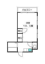 優宏荘[2階]の間取り