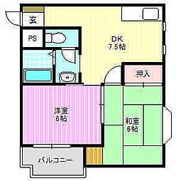 WESTヒルズ神田[4階]の間取り