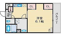 リブリ・末広 3階1Kの間取り