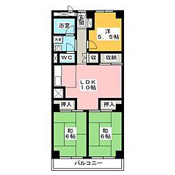 グリーンマンション野間[6階]の間取り