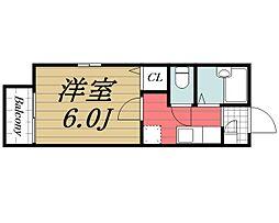 千葉県千葉市若葉区千城台東3丁目の賃貸アパートの間取り