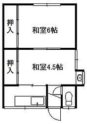 原田アパート[1階]の間取り
