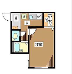 東京都大田区新蒲田2丁目の賃貸マンションの間取り