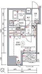 ドムス・スタイル銀座東 8階1Kの間取り