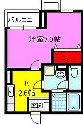大阪府大東市諸福1丁目の賃貸アパートの間取り