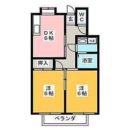 メゾン・エスポワール B[2階]の間取り
