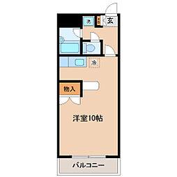 幸町アヴェニュー[5階]の間取り