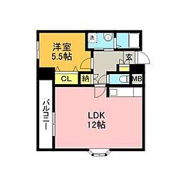 UBIビル飯塚[9階]の間取り