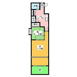 新日ビル豊明マンション[1階]の間取り