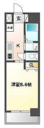 愛知県名古屋市西区名駅3丁目の賃貸マンションの間取り