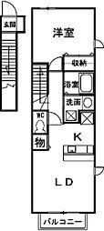 レジデンスM2[2階]の間取り