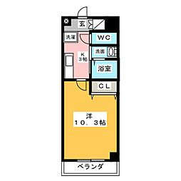 ラフィーネ名駅西[5階]の間取り