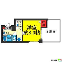 アビコ88マンション[1階]の間取り