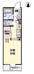 アルール平塚[204号室]の間取り