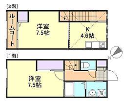 [テラスハウス] 岡山県倉敷市四十瀬 の賃貸【/】の間取り