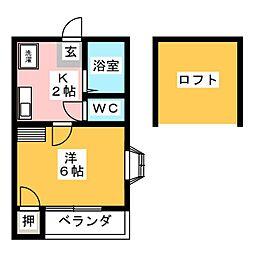 プランドール名楽[2階]の間取り