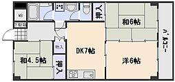 広島県広島市西区井口台1丁目の賃貸マンションの間取り