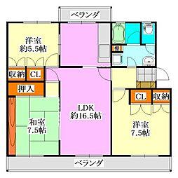 Fujisakiハイム[3階]の間取り