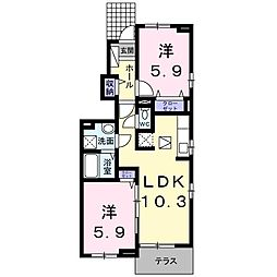 TJハウス[101号室]の間取り