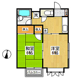 神奈川県横浜市戸塚区原宿1の賃貸アパートの間取り