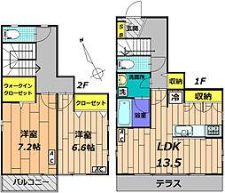 [テラスハウス] 東京都日野市南平6丁目 の賃貸【/】の間取り