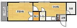 ラコント緑井[206号室]の間取り