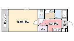 Marina Palace薬円台[101号室]の間取り