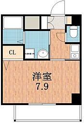 ラシーヌ天王寺[6階]の間取り