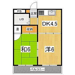 第二平木マンション[6階]の間取り